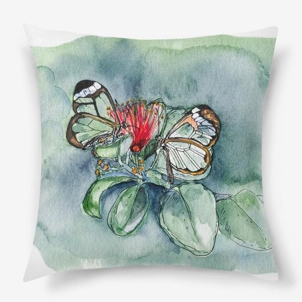 Подушка «Стеклянные бабочки»