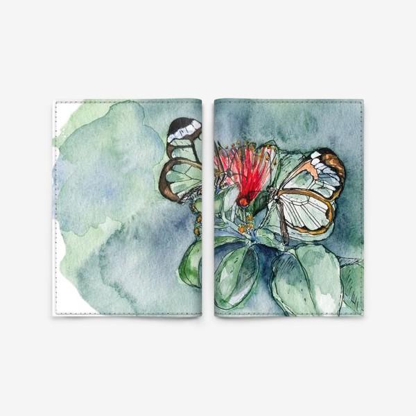 Обложка для паспорта «Стеклянные бабочки»