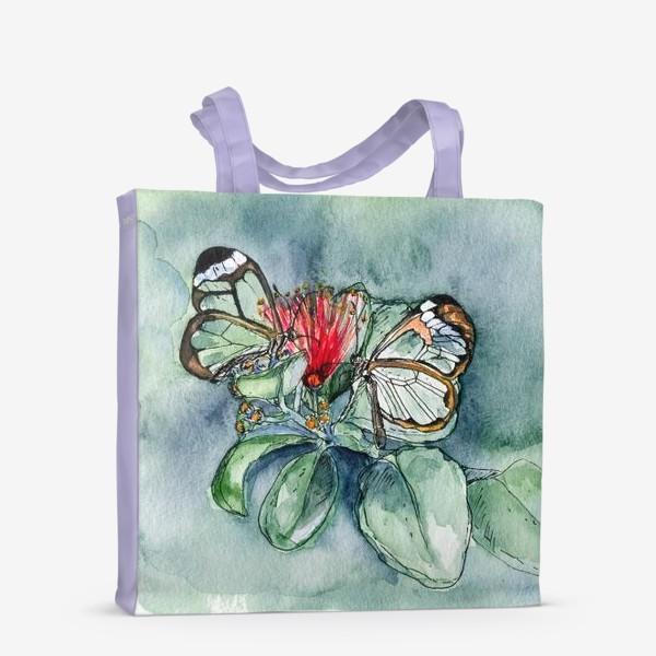 Сумка-шоппер «Стеклянные бабочки»