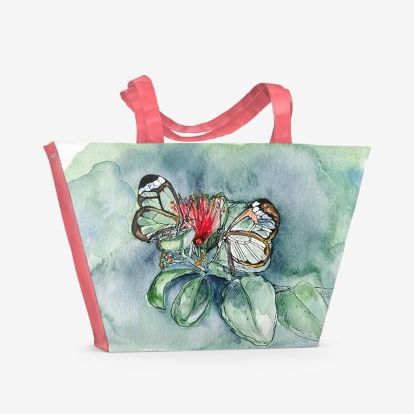 Пляжная сумка «Стеклянные бабочки»