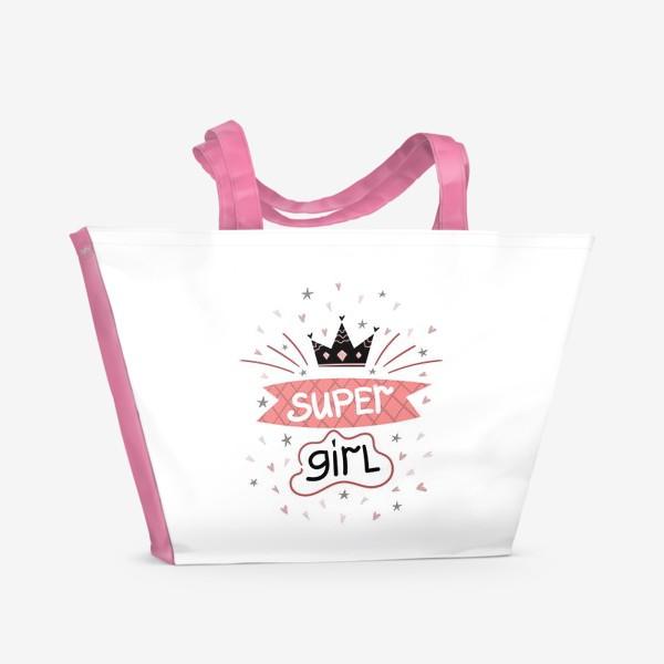 Пляжная сумка «Super Girl»