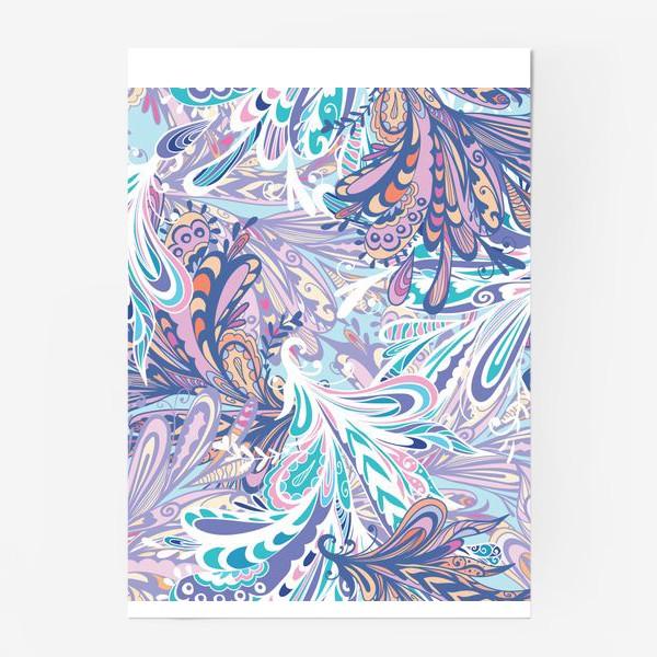 Постер «Абстрактные узоры в синей гамме»