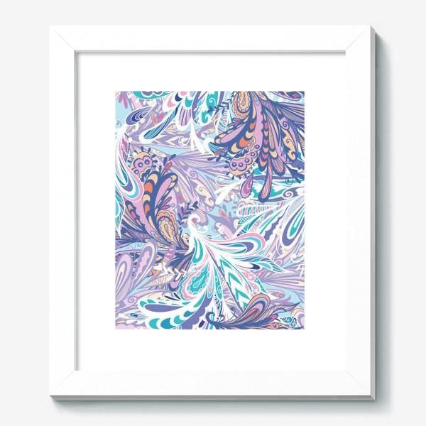 Картина «Абстрактные узоры в синей гамме»
