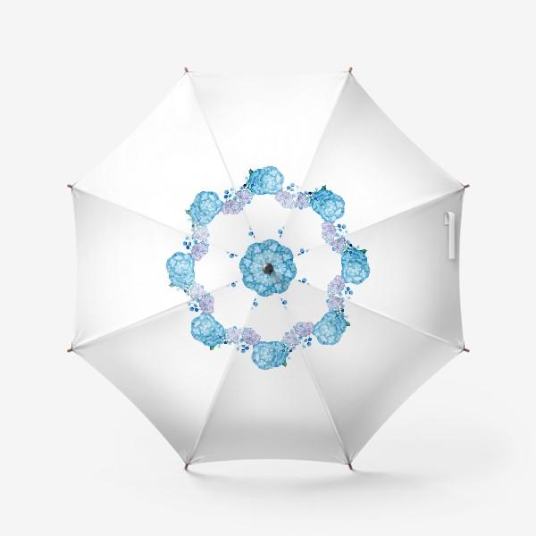 Зонт «Букет с гортензией»