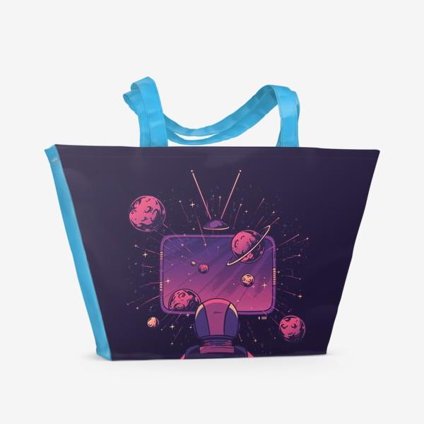 Пляжная сумка «Космический телевизор»
