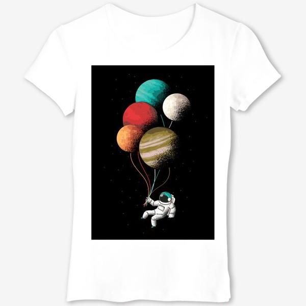 Футболка «Астронавт с шариками»