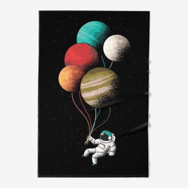 Полотенце «Астронавт с шариками»