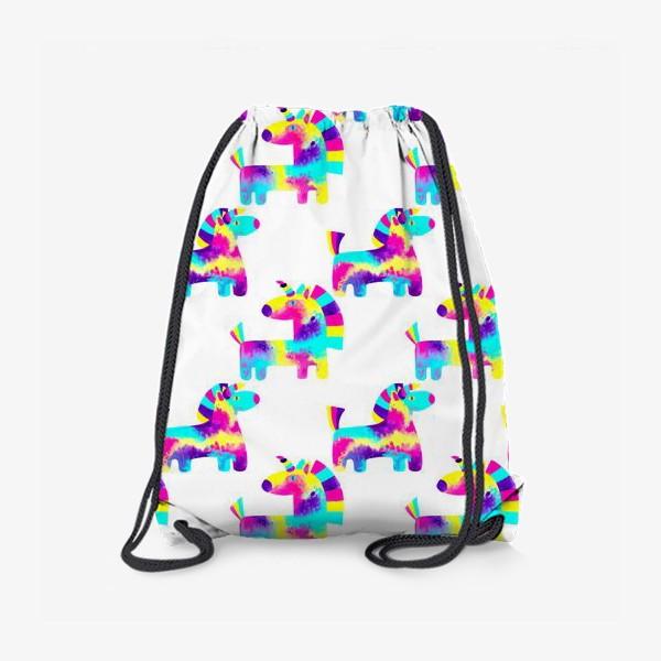 Рюкзак «Паттерн радужные единороги»
