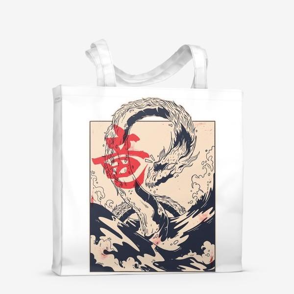 Сумка-шоппер «Морской дракон в японском стиле»