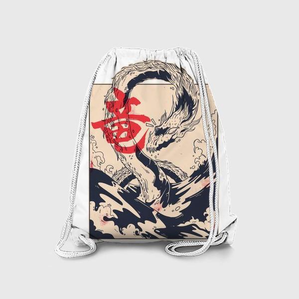 Рюкзак «Морской дракон в японском стиле»
