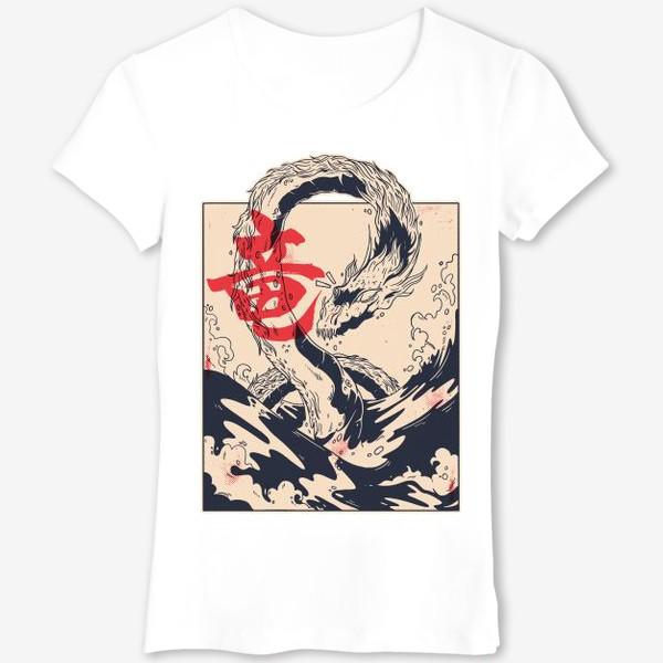Футболка «Морской дракон в японском стиле»