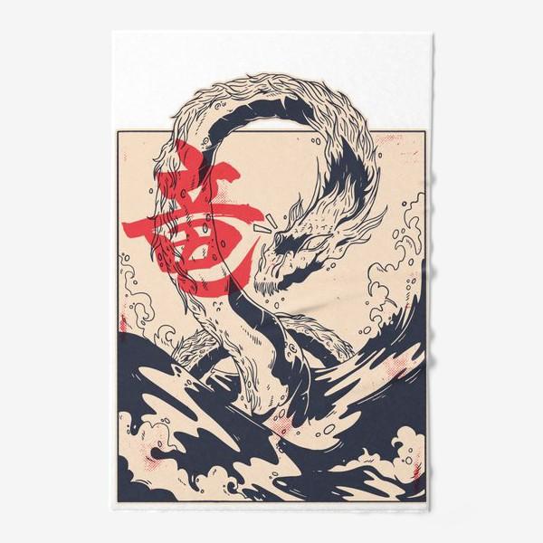 Полотенце «Морской дракон в японском стиле»