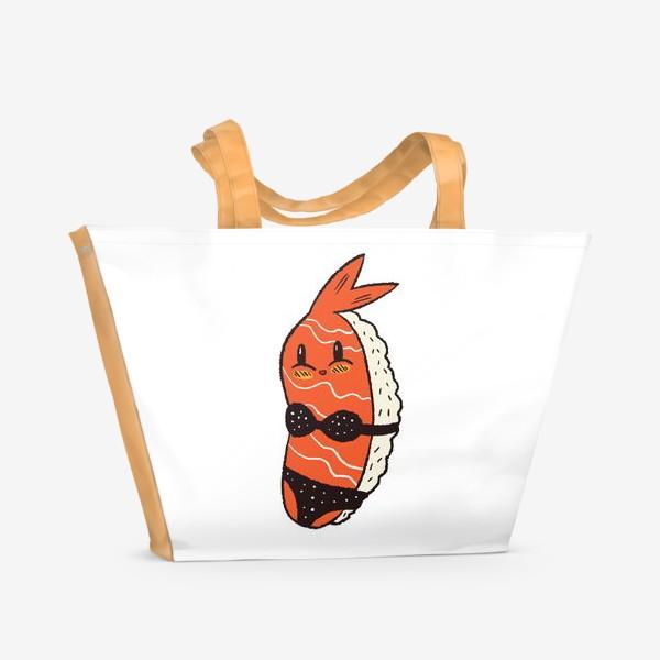 Пляжная сумка «Суши в бикини»