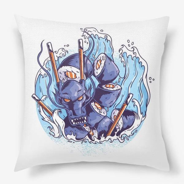 Подушка «Морской суши дракон»