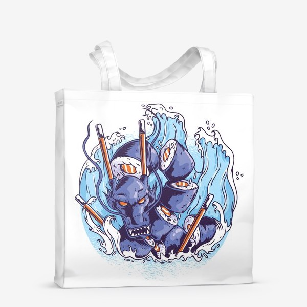 Сумка-шоппер «Морской суши дракон»