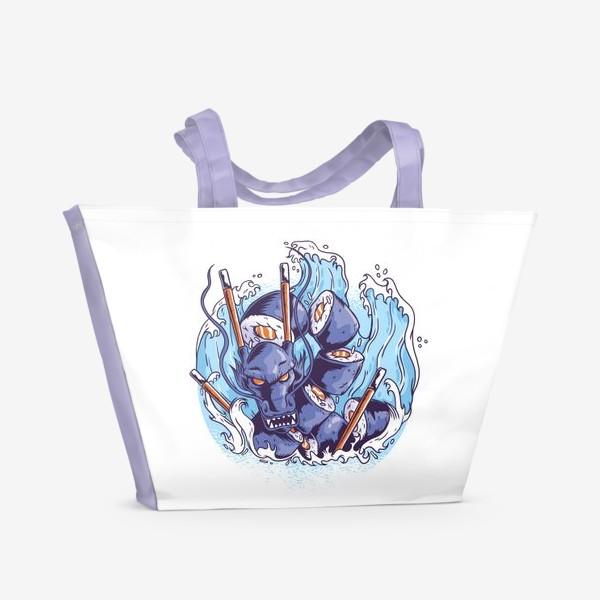 Пляжная сумка «Морской суши дракон»