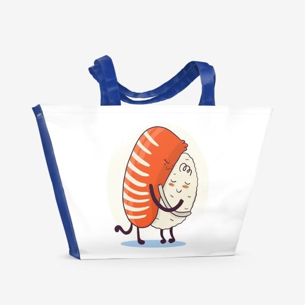 Пляжная сумка «Суши обнимашки»