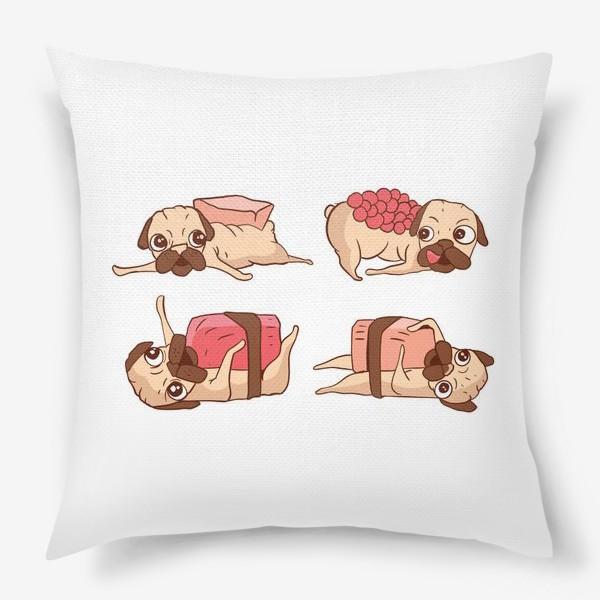 Подушка «Суши Мопсы»