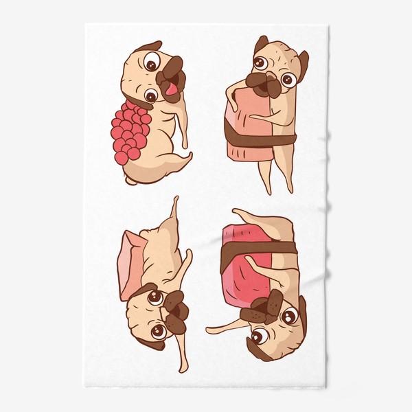 Полотенце «Суши Мопсы»