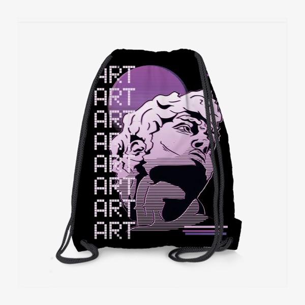Рюкзак «Статуя Давида в стиле Vaporwave »