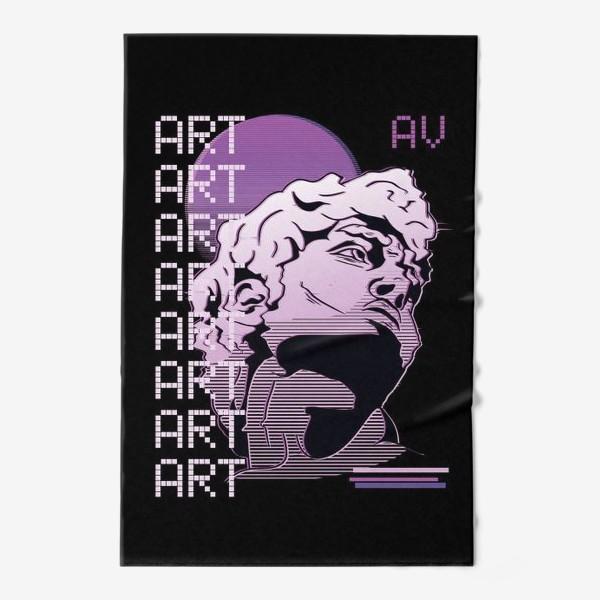 Полотенце «Статуя Давида в стиле Vaporwave »