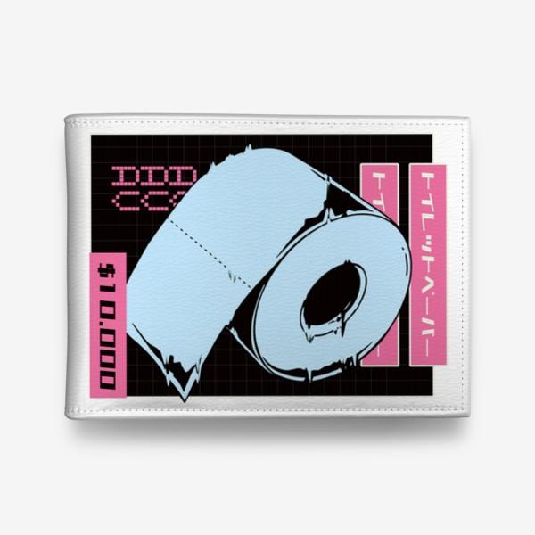 Кошелек «Туалетная бумага в стиле Vaporwave»