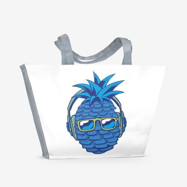 Пляжная сумка «Синий Ананас»