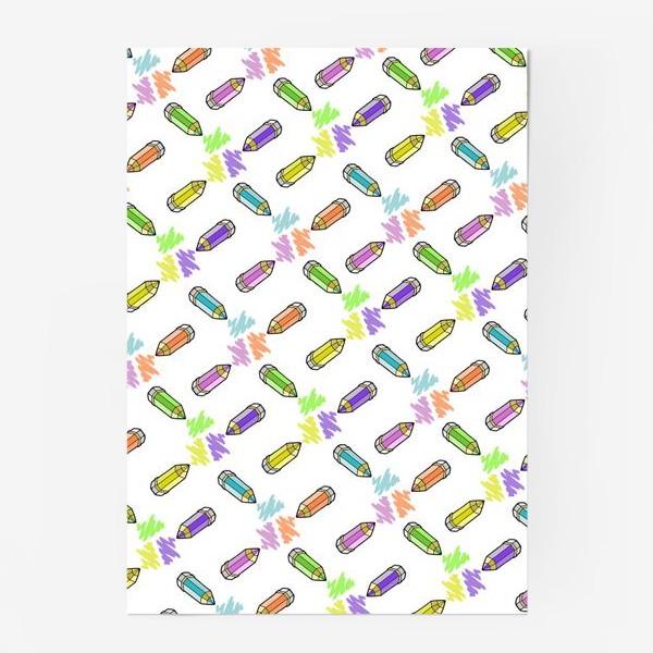 Постер «Цветные карандаши (белый фон)»