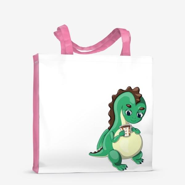 Сумка-шоппер «Чайный дракончик (зелёный)»