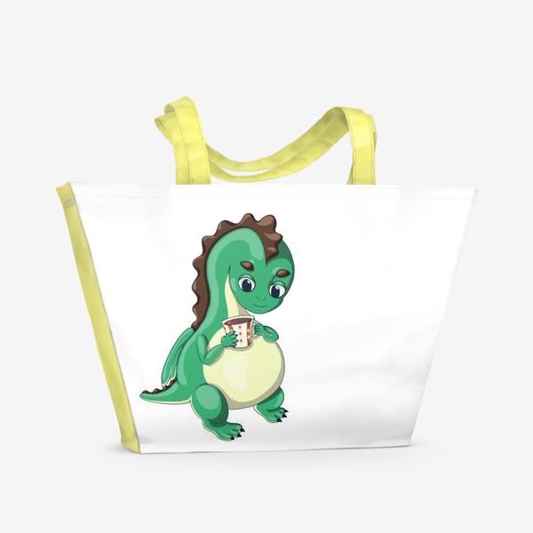 Пляжная сумка «Чайный дракончик (зелёный)»