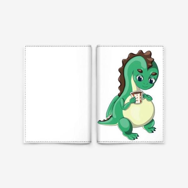 Обложка для паспорта «Чайный дракончик (зелёный)»