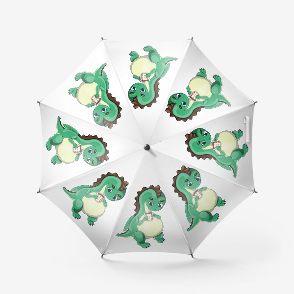 Зонт «Чайный дракончик (зелёный)»