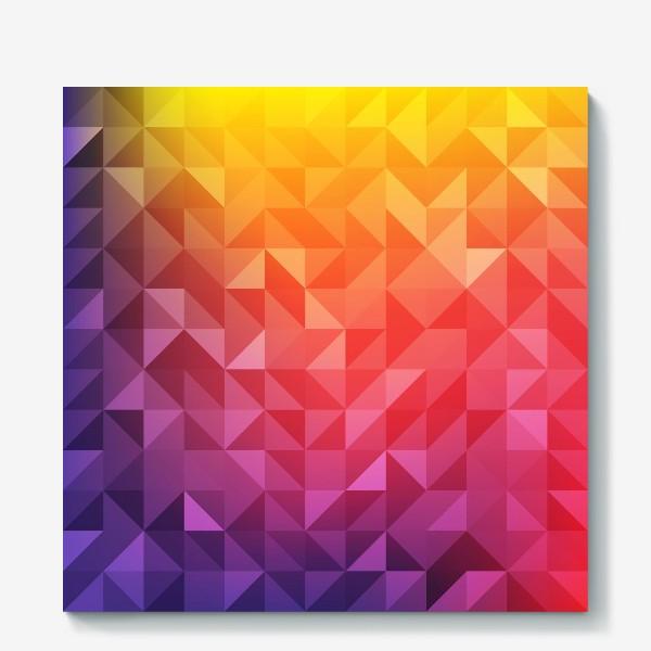 Холст «Геометрия цвета»