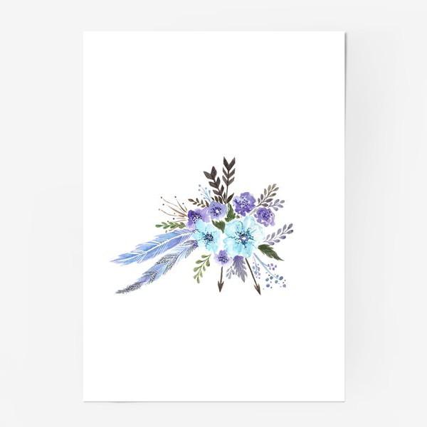 Постер «Indi flowers»