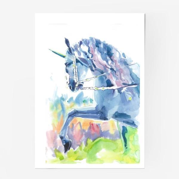 Постер «Волшебный лес. Единорог »