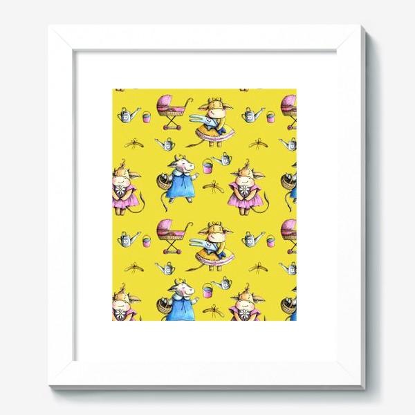 Картина «Коровки на желтом»