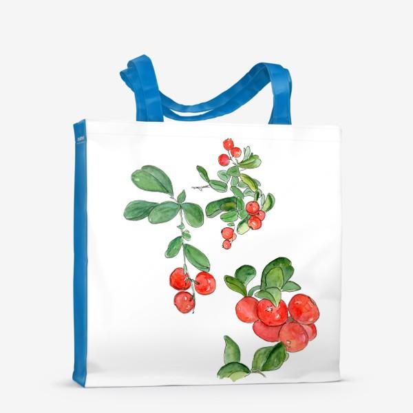 Сумка-шоппер «Брусника - богатство осеннего леса»