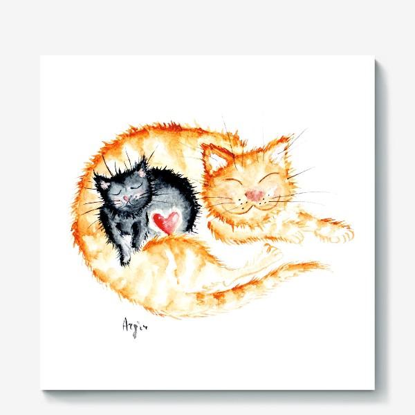 Холст «Кошачья любовь»