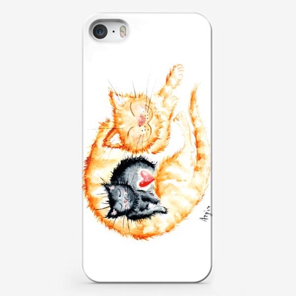 Чехол iPhone «Кошачья любовь»