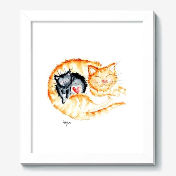 Картина «Кошачья любовь»