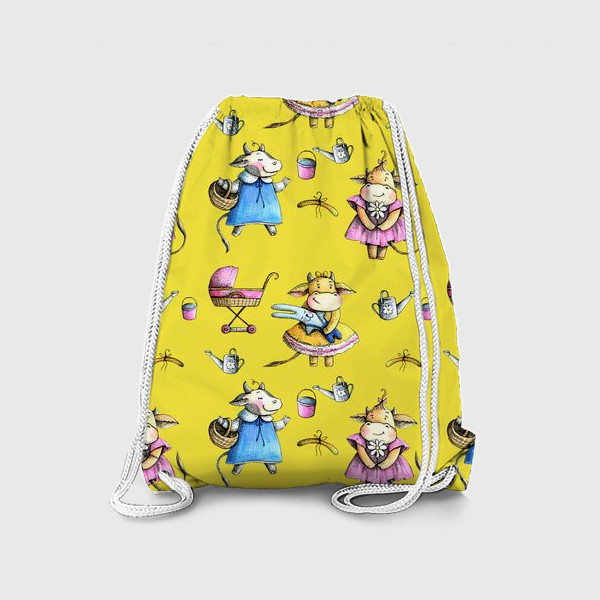 Рюкзак «Коровки на желтом»