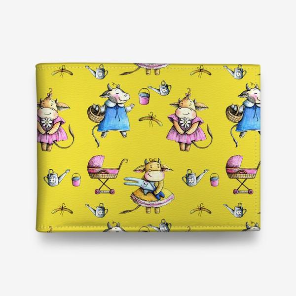 Кошелек «Коровки на желтом»