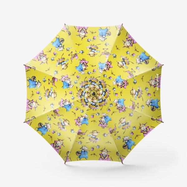 Зонт «Коровки на желтом»
