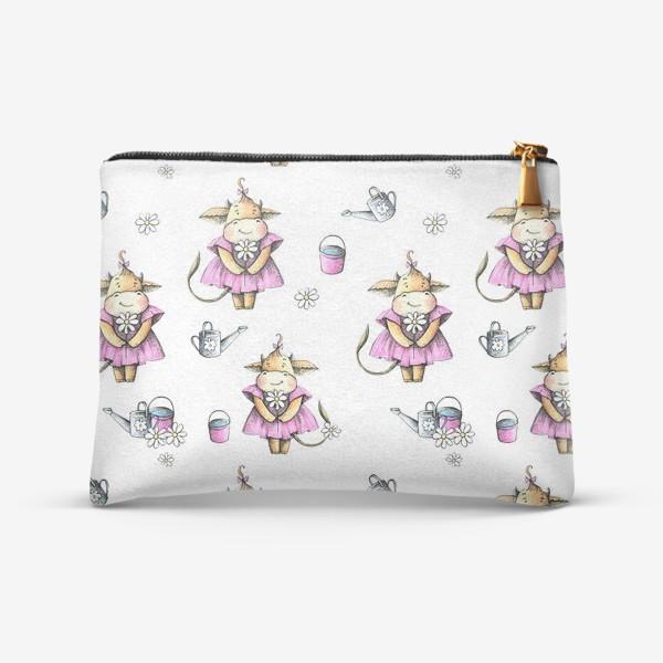Косметичка «Коровка в розовом платьице»