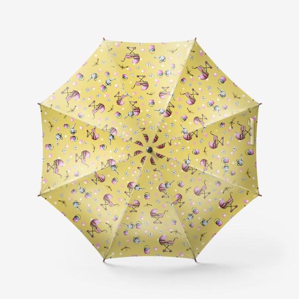 Зонт «Детский принт с коляской»