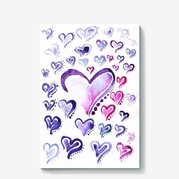 Холст «Сердечки»