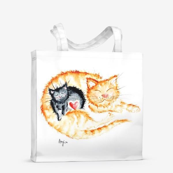 Сумка-шоппер «Кошачья любовь»