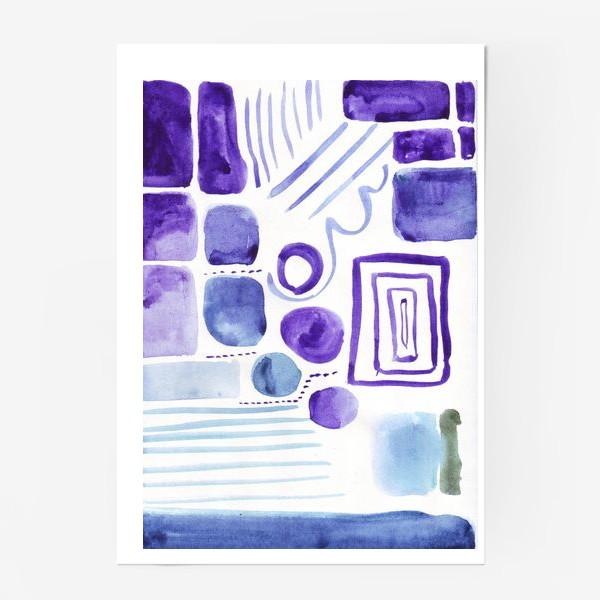 Постер «Акварельные прямоугольники»