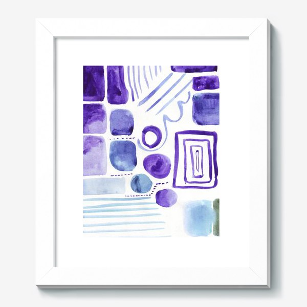 Картина «Акварельные прямоугольники»