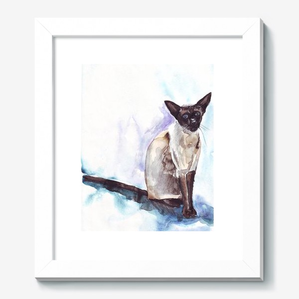 Картина «Сиамский кот на голубом фоне»